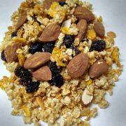 granola con alm y pasas